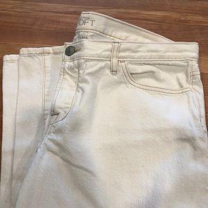 New Boyfriend Cropped White Jeans